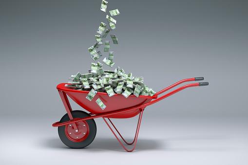 Pennies from Heaven「Euros falling into red wheelbarrow」:スマホ壁紙(15)