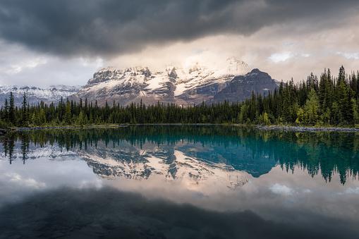 Yoho National Park「Reflections in Linda Lake at Lake O'Hara, Yoho National Park, British Columbia, Canada」:スマホ壁紙(1)