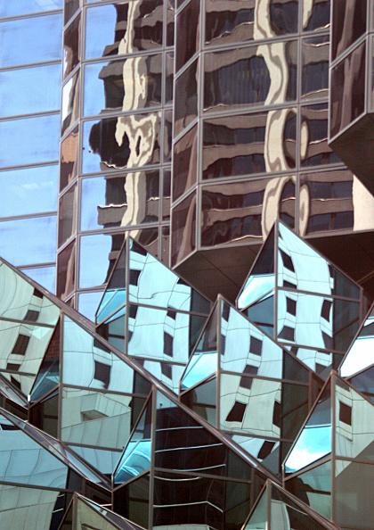 skyscraper「Reflections in office buildings along St Georges Terrace, Perth CBD, Western Australia」:写真・画像(2)[壁紙.com]