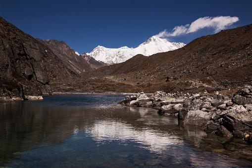 Khumbu「Reflections of Cho Oyu in the second Gokyo Lake, Everest Base Camp via Gokyo Trek, Nepal」:スマホ壁紙(7)