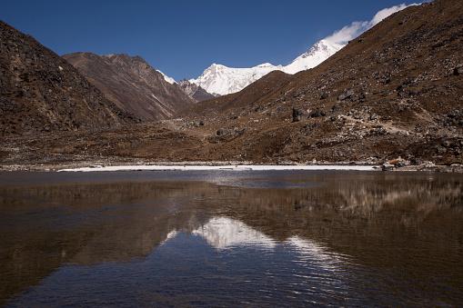 Khumbu「Reflections of Cho Oyu in the second Gokyo Lake, Everest Base Camp via Gokyo Trek, Nepal」:スマホ壁紙(16)