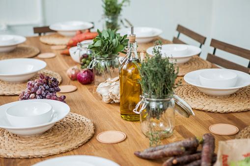 テーブルセッティング「Laid table, mediterranean」:スマホ壁紙(14)