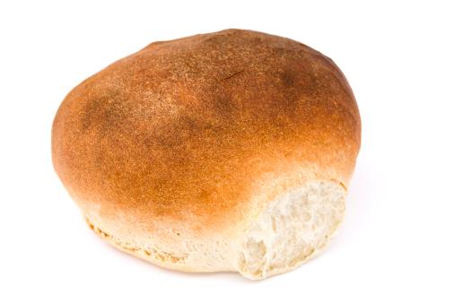Bun - Bread「Crusty white bread isolated on white」:スマホ壁紙(2)