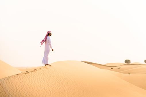 仕事運「arabic sheik on the desert look forward」:スマホ壁紙(1)