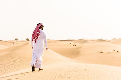仕事運「arabic sheik walking on the desert」:スマホ壁紙(2)