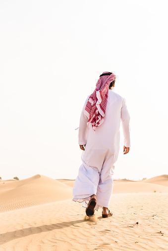 仕事運「arabic sheik walking on the desert」:スマホ壁紙(3)