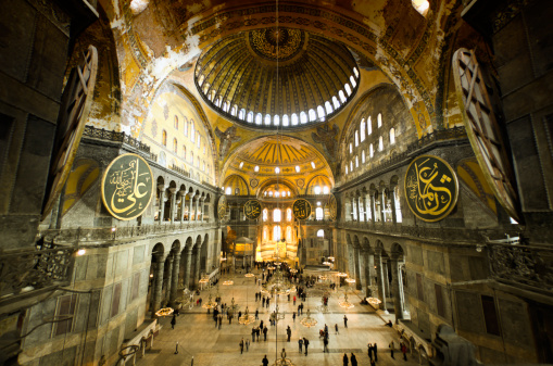 Istanbul「Hagia Sophia and visitors」:スマホ壁紙(19)