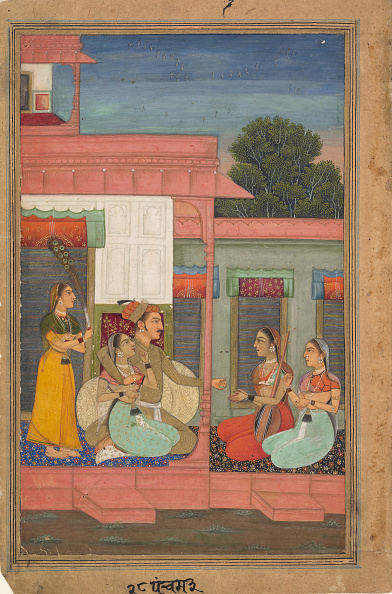 Rajasthan「Panchama Ragini: Page From A Ragamala Series (Garland Of Musical Modes)」:写真・画像(10)[壁紙.com]