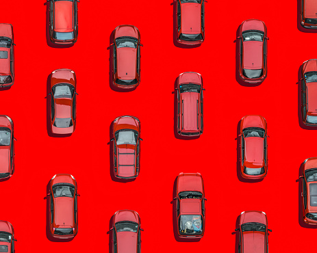 Multi-Layered Effect「Red cars on red underground, Aerial View」:スマホ壁紙(12)