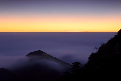 朝顔「日の出の風景、中国・江西省」:スマホ壁紙(15)