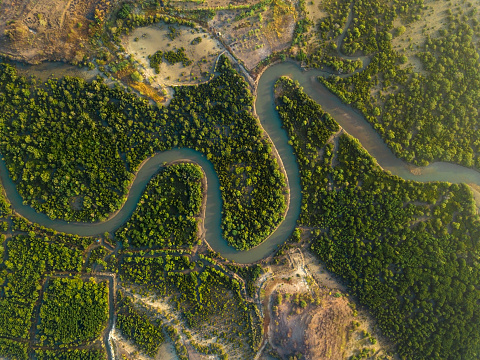 River「Indonesai, Lombok, Tropical river from above」:スマホ壁紙(0)