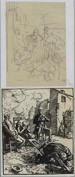 Pencil「Trois Otages Assis」:写真・画像(19)[壁紙.com]