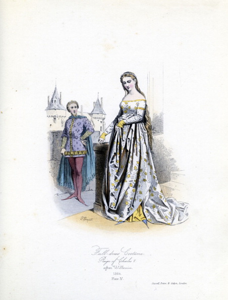 French Culture「Noble woman in full dress, 1364」:写真・画像(8)[壁紙.com]