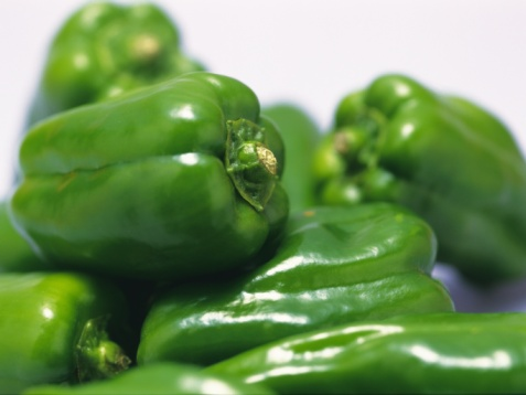 Green Bell Pepper「Sweet Peppers, front view, close up」:スマホ壁紙(0)