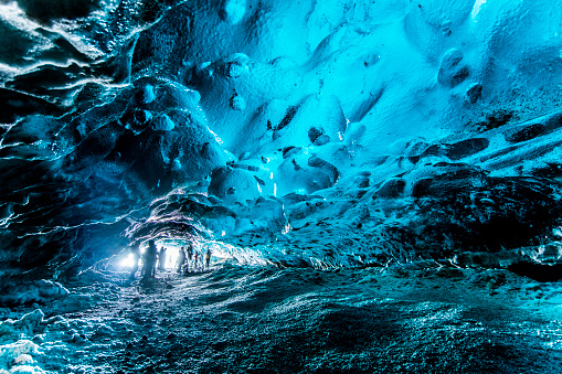 Exploration「View inside of ice cave, Iceland」:スマホ壁紙(15)