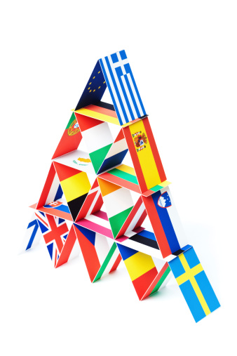 Politics「Country Flags Economic House of Cards for European Debt Crisis」:スマホ壁紙(3)