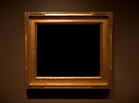 Frame - Border「Ornate Gold Frame on a Brown Wall」:スマホ壁紙(6)