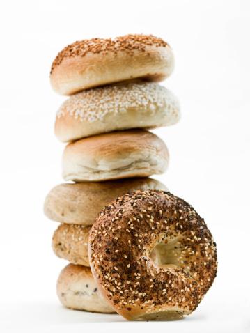 Bun - Bread「Stack of assorted bagels」:スマホ壁紙(10)