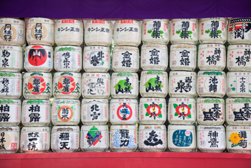 日本酒「Sake Barrels Near Entrance of Meiji Shrine」:スマホ壁紙(10)