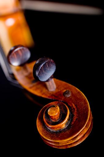 Violin「Violin scroll of the pegbox」:スマホ壁紙(13)
