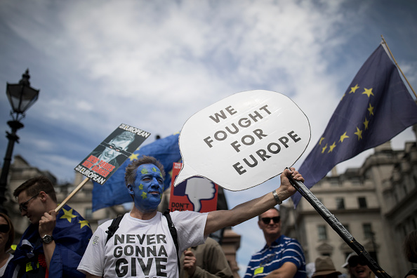 Brexit「People's Vote Protesters March On Parliament」:写真・画像(3)[壁紙.com]