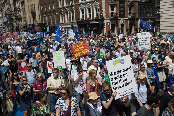 Brexit「People's Vote Protesters March On Parliament」:写真・画像(2)[壁紙.com]