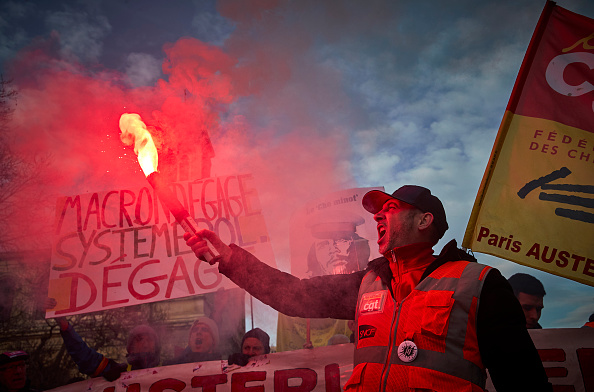 France「French Unions Take To The Streets Again In National Strike Effort」:写真・画像(2)[壁紙.com]