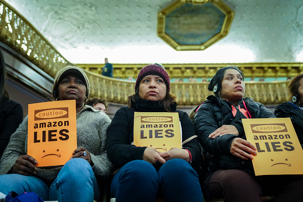 New York State「Anti-Amazon Protestors Rally At NYC City Hall Against Queens Second Headquarters」:写真・画像(15)[壁紙.com]