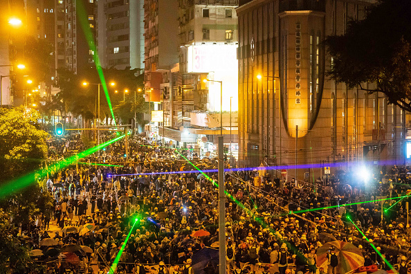 Lighting Equipment「Unrest In Hong Kong During Anti-Government Protests」:写真・画像(1)[壁紙.com]