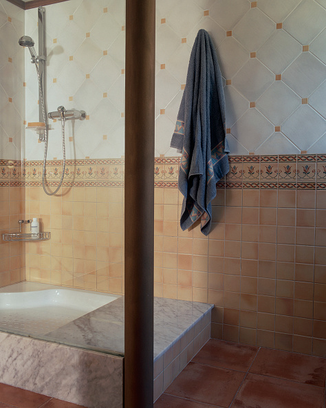 Architectural Column「View of a bathroom with a shower area」:写真・画像(10)[壁紙.com]