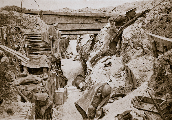Trench「A View Of A  British Trench Ovillers France World War I 1916」:写真・画像(16)[壁紙.com]