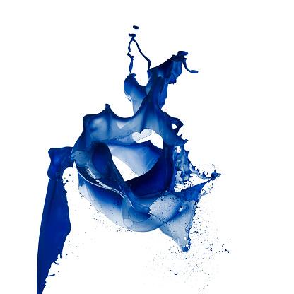 Flexibility「Blue Paint Splash」:スマホ壁紙(13)