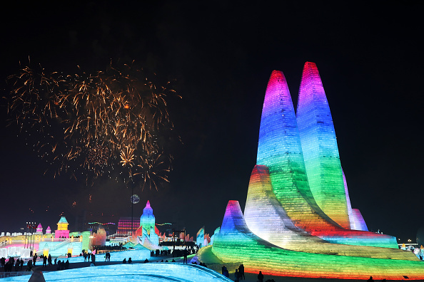 お祭り「2020 Harbin International Ice & Snow Festival - Grand Opening」:写真・画像(14)[壁紙.com]