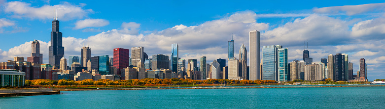 Great Lakes「Skycraper of Chicago Skyline Panorama, ILL」:スマホ壁紙(19)