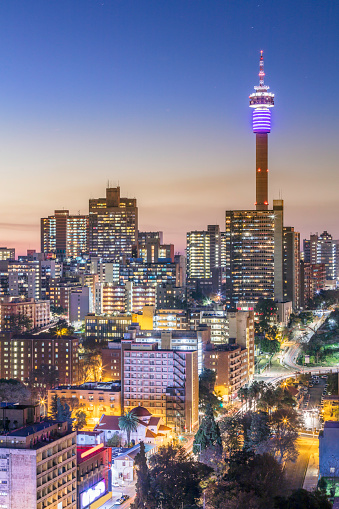 South Africa「Johannesburg city panorama with the communications tower」:スマホ壁紙(14)