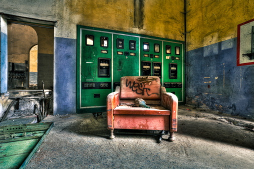 Deterioration「Armchair in Abandoned Factory」:スマホ壁紙(3)