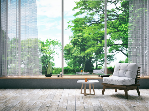 Wood - Material「Armchair in Living Room」:スマホ壁紙(14)