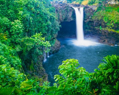 滝「レインボーフォールズ、ハワイ」:スマホ壁紙(14)
