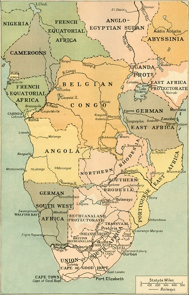 Southern Africa「Map Of Mid And South Africa」:写真・画像(0)[壁紙.com]