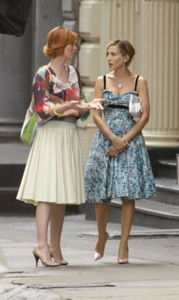 Sex and the City - Television Show「Sarah Jessica Parker and Cynthia Nixon」:写真・画像(15)[壁紙.com]
