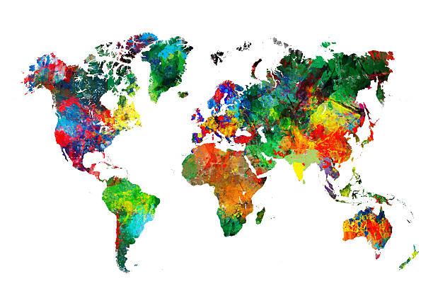 Colored World Map XXXL:スマホ壁紙(壁紙.com)