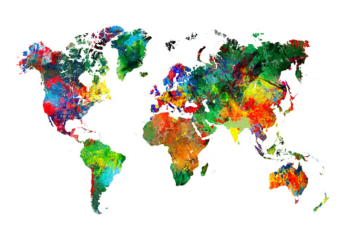 Art And Craft「Colored World Map XXXL」:スマホ壁紙(9)