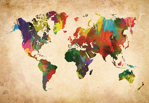 Postmodern「Colored World Map XXXL」:スマホ壁紙(8)