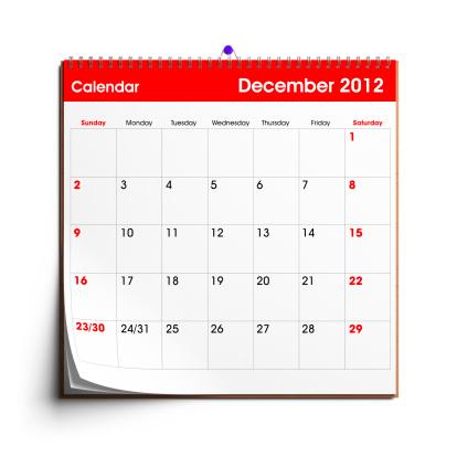 Calendar「Wall Calendar December 2012」:スマホ壁紙(18)