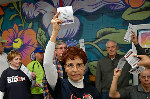 Nevada「Nevada Voters Caucus In Democratic Presidential Primary Election」:写真・画像(17)[壁紙.com]
