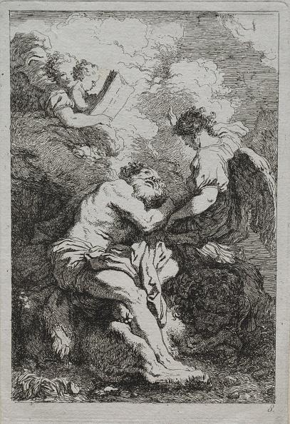 Etching「St. Jerome. Creator: Jean-Honoré Fragonard (French」:写真・画像(1)[壁紙.com]