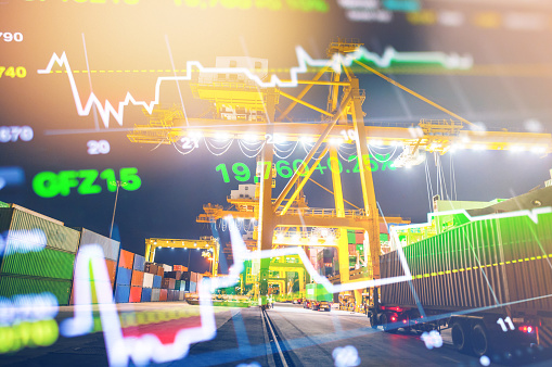 Night Market「Crane cargo market and finance economic background」:スマホ壁紙(16)