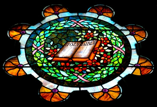 Methodist「Bible depicted in antique stained glass window」:スマホ壁紙(11)