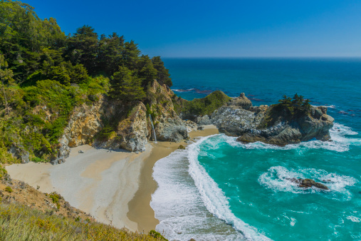 Julia Pfeiffer Burns State Park「McWay Cove, California」:スマホ壁紙(7)