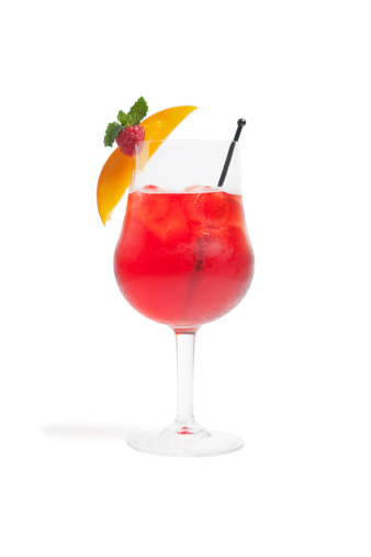 Cocktail「A red cocktail with peach and raspberry」:スマホ壁紙(8)